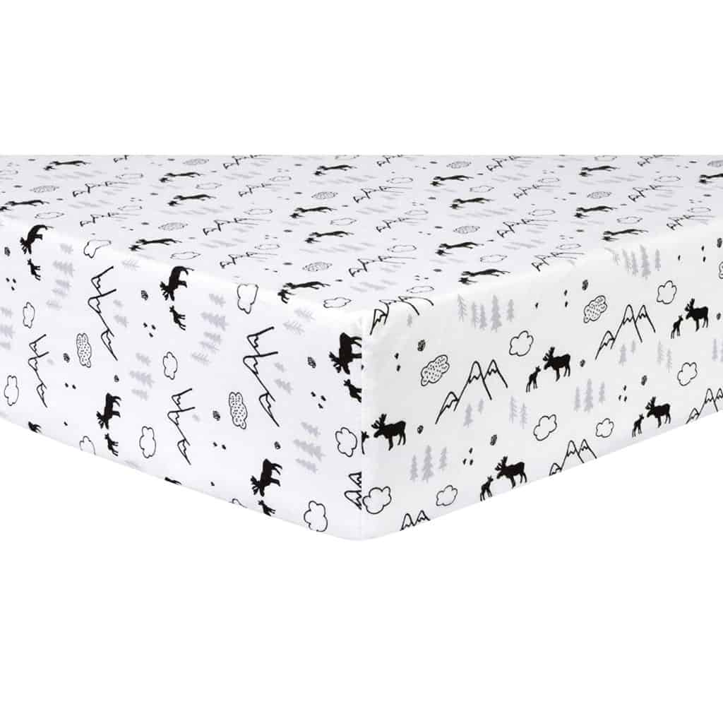 Trend Lab Deluxe Flannel Fitted Crib Sheet