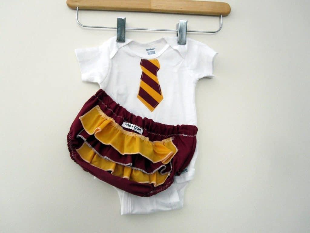 Wizard School Uniform w Ruffle or Plain Diaper Covers