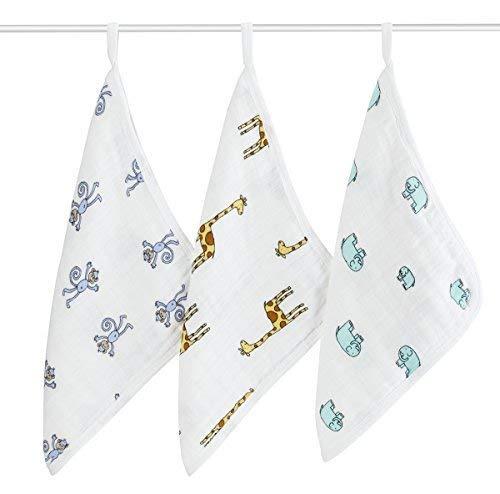Aden + Anais washcloth bath towel, set of 3