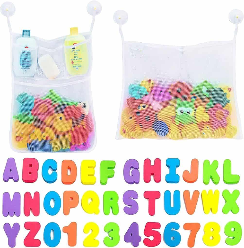 Bathtime foam letters