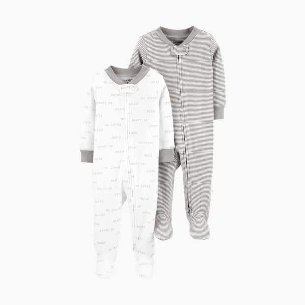 Carter's Zipper Footie with Snap-Pack of 2 toddler clothes