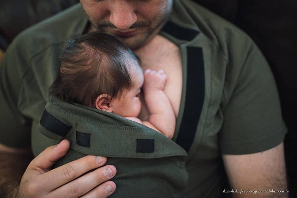 Dad Ware Cotton Kangaroo Care babywearing Shirt