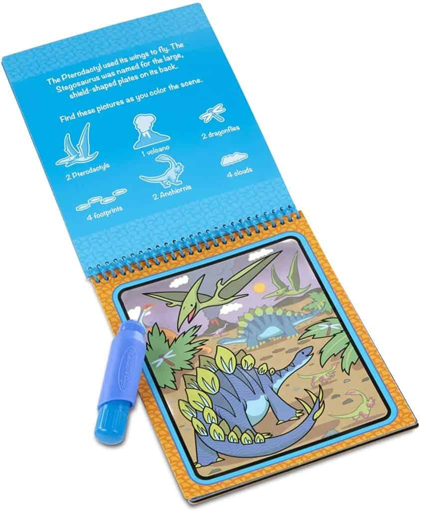 Dinosaur's reusable activity pad