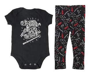 """""""I Solemnly Swear That I Am Up To No Good"""" Legging and Bodysuit Set"""