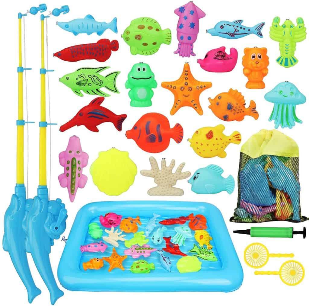 Magnetic bathtime fishing game