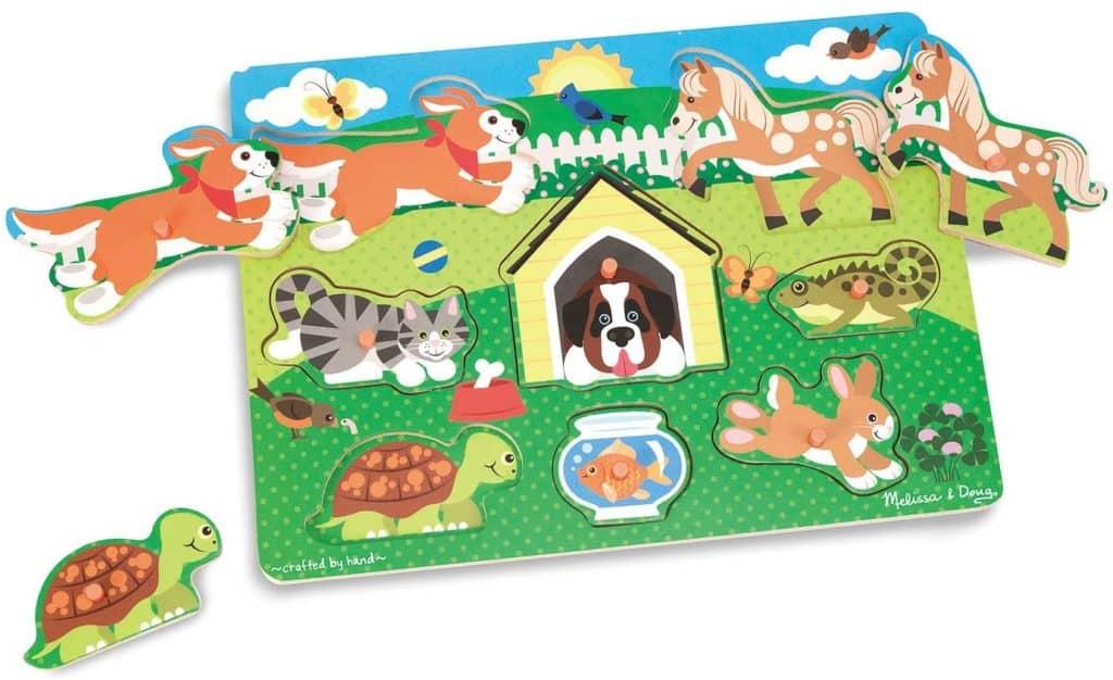Melisssa & Doug pets wooden peg puzzle