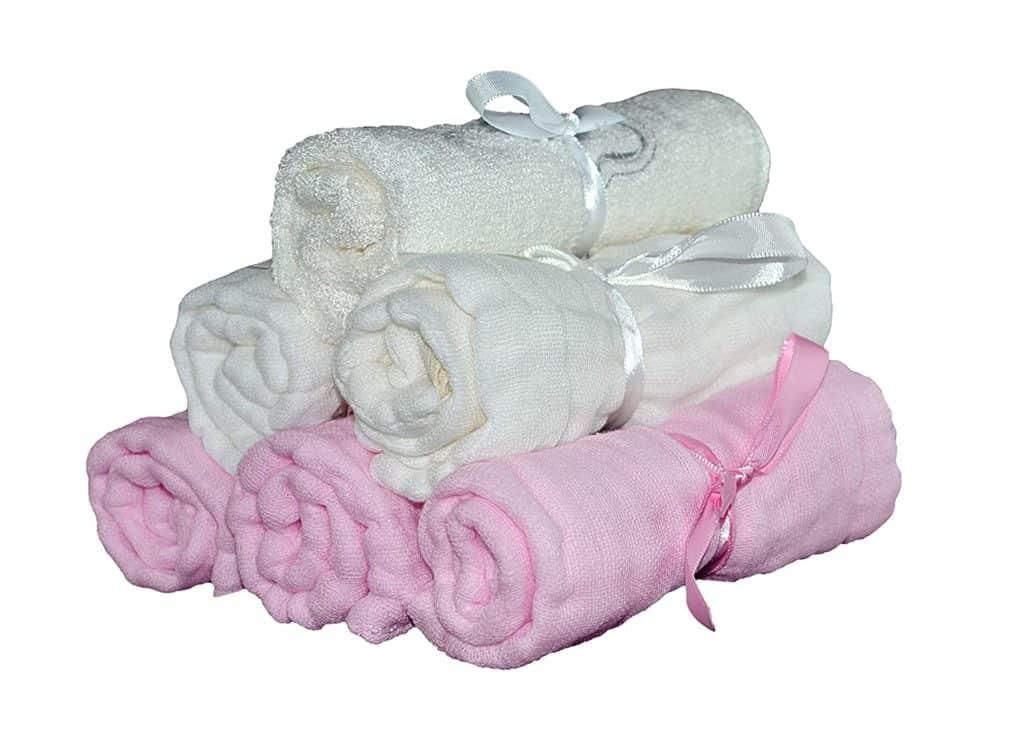 Tubby Todd's muslin baby washcloth, set of 6