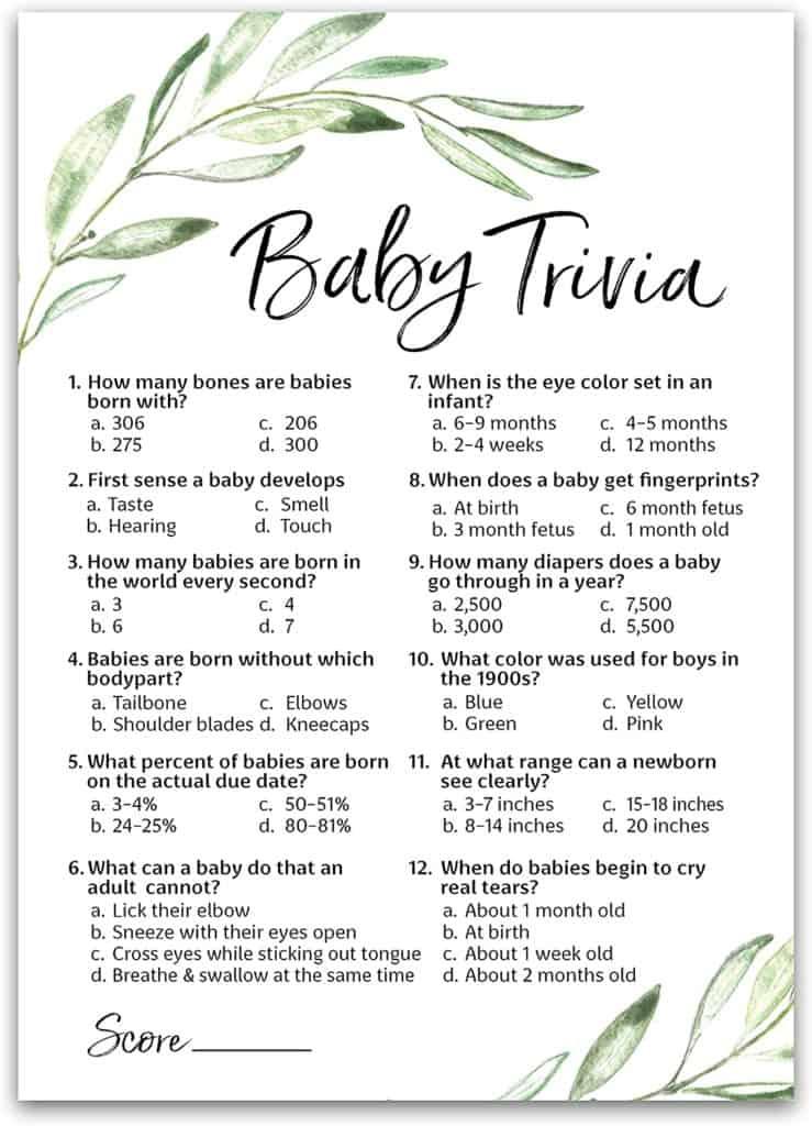 Baby Trivia