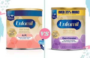 Enfamil AR vs Gentlease