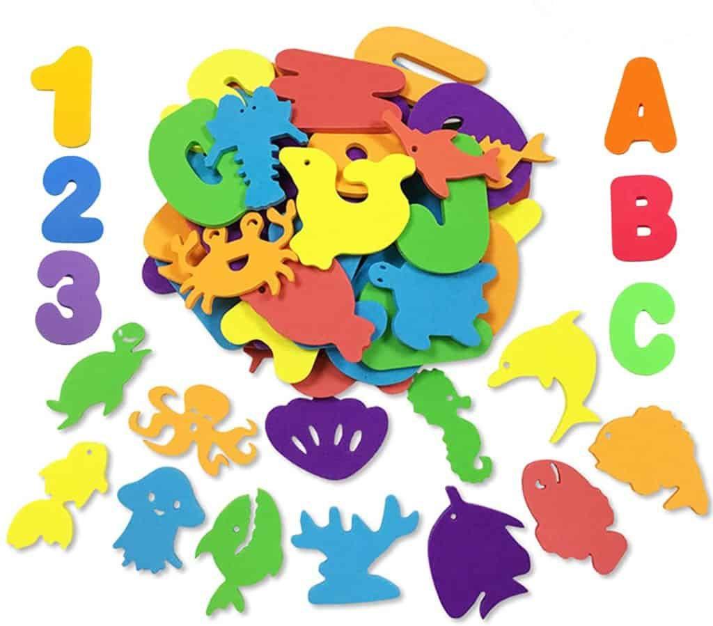 Foam Bath Toys Numbers and Animals