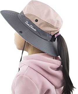 Muryobao baby Girls Ponytail Summer Sun Hat