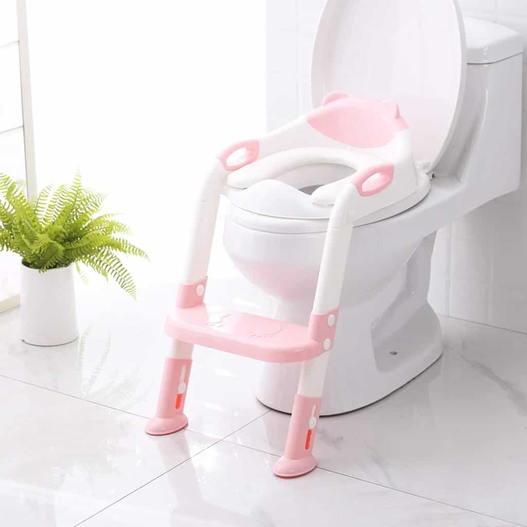 Potty Training Seat with a step stool ladder