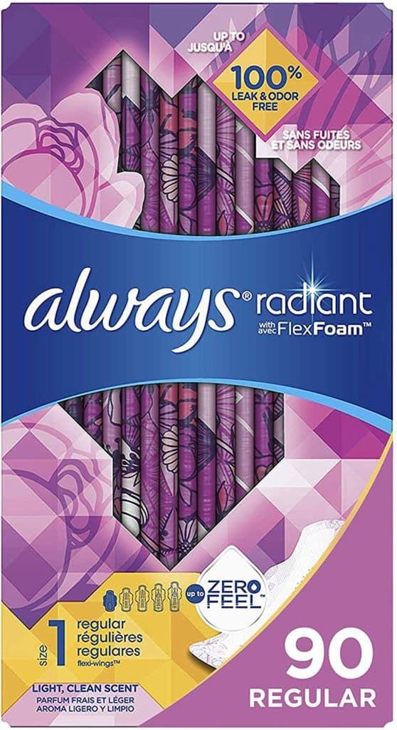 Always Radiant Feminine Pads