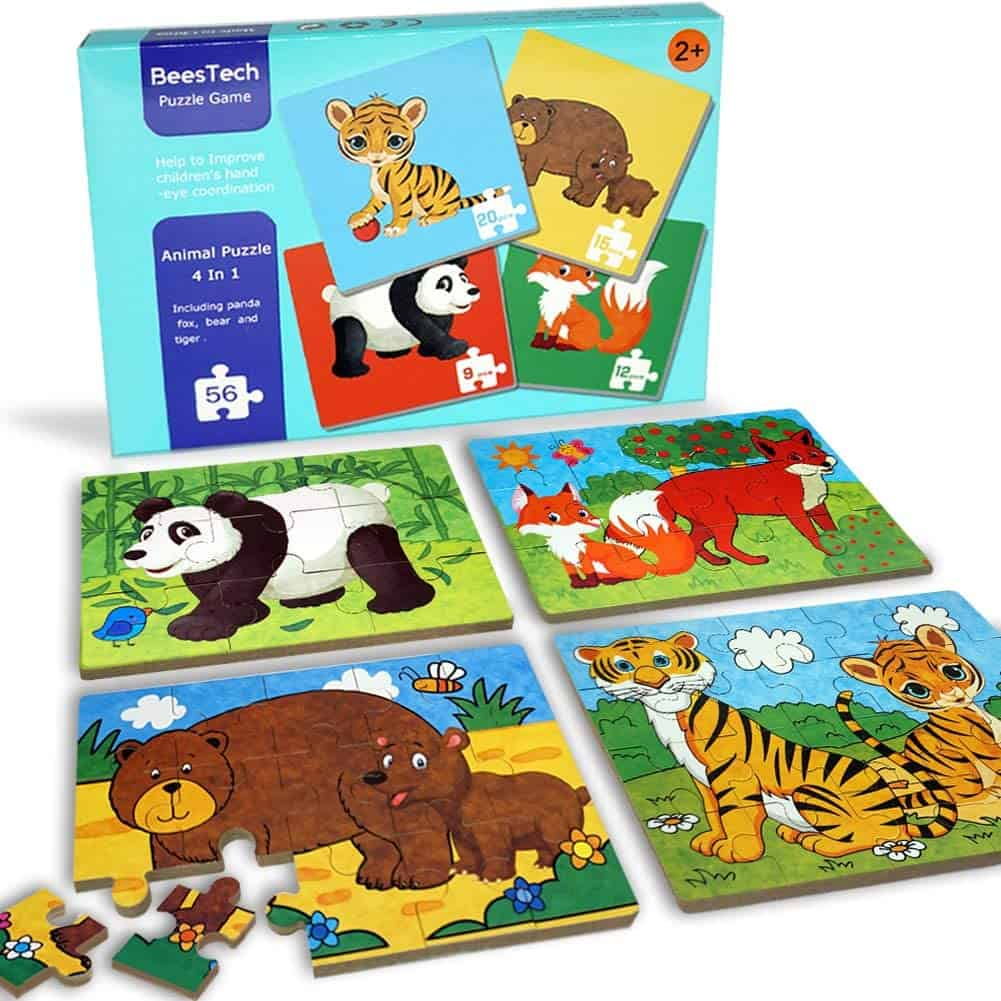 BEESTECH elementary wooden jigsaw puzzle
