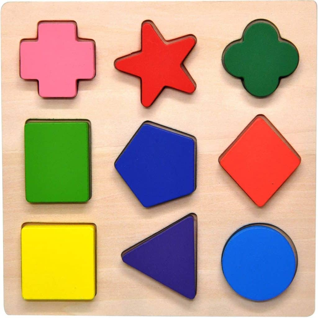 GYBBER&MUMU wooden colorful shape puzzle