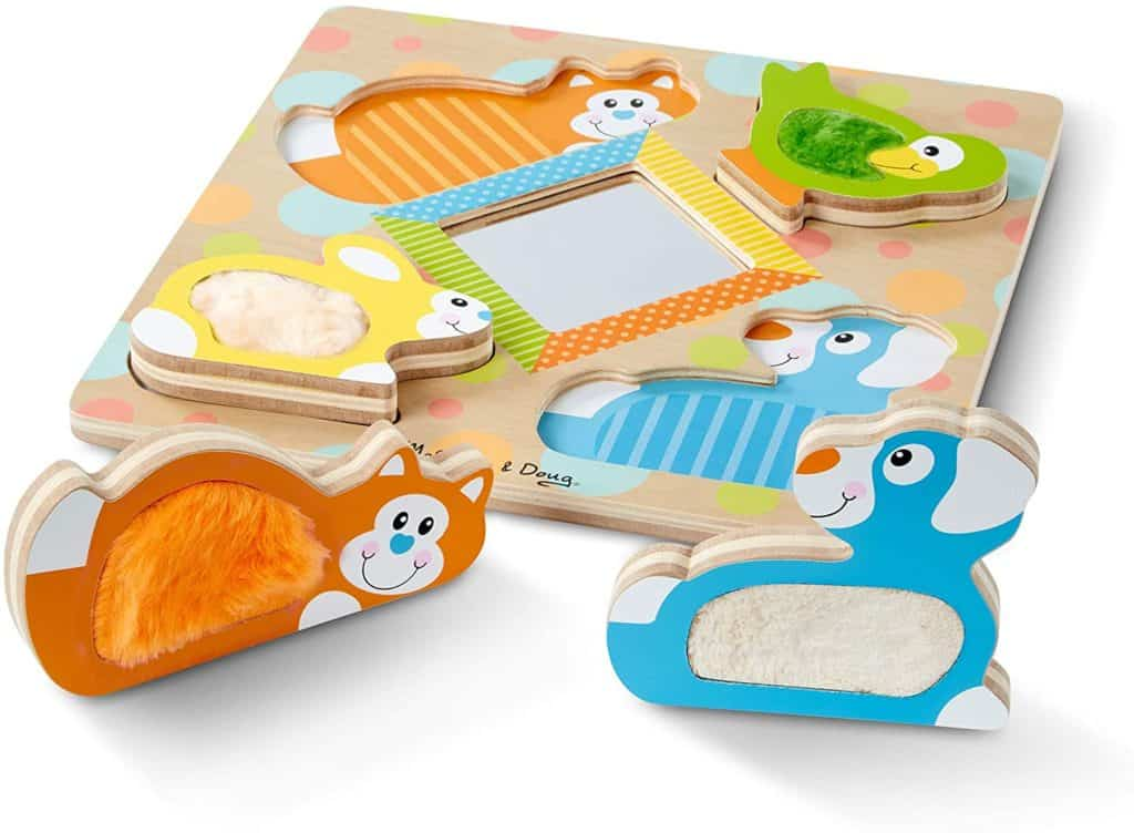 Melissa & Doug First Play wooden touch and feel fun puzzle