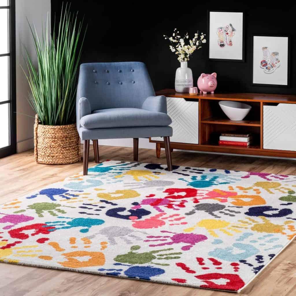 NuLoom Pinkie Handprint nursery rug