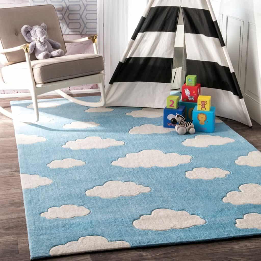 NuLoom Sachiko Cloudy nursery rug