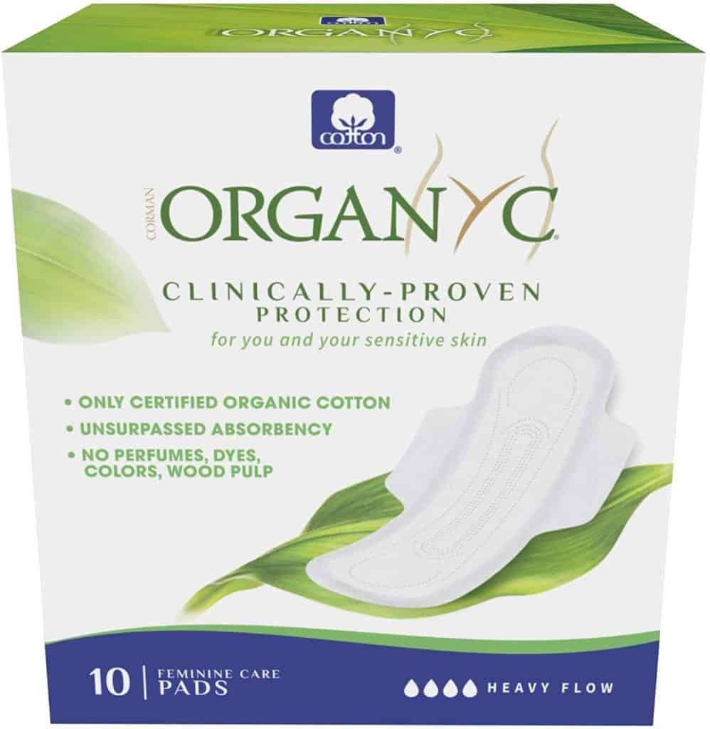 Organyc's 100% Certified Organic Cotton Feminine Pads