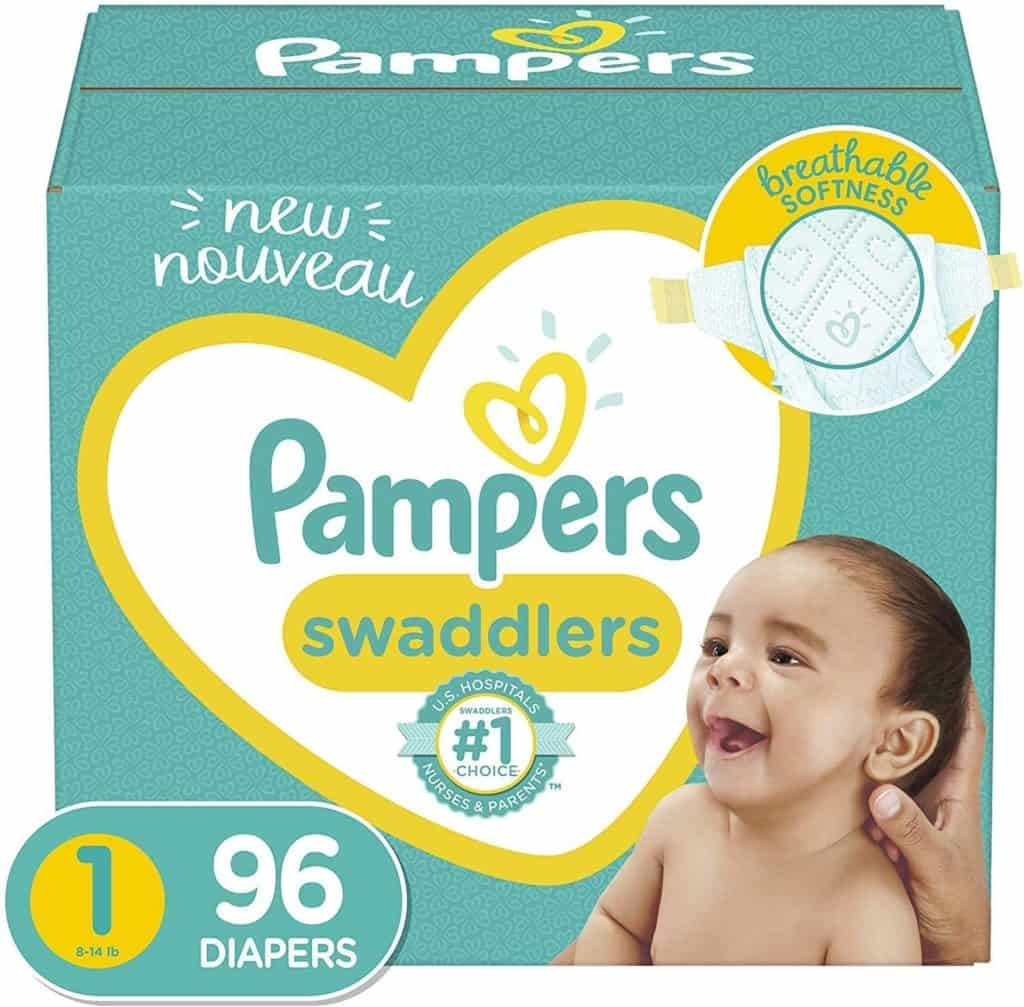 Pampers Swaddlers Disposable Diapers, Super Pack