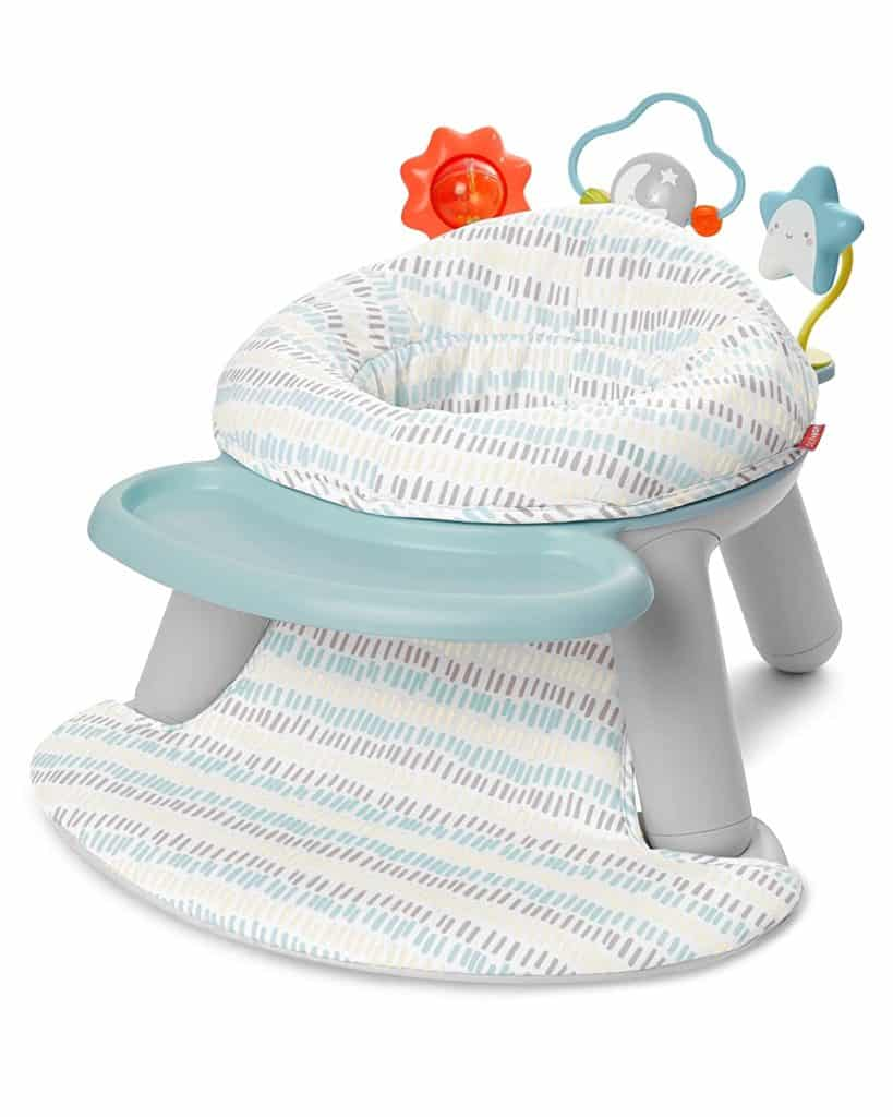 Skip Hop Silver Lining Cloud Baby Chair 2-in-1 Sit-up Floor Seat And Infant Activity Seat