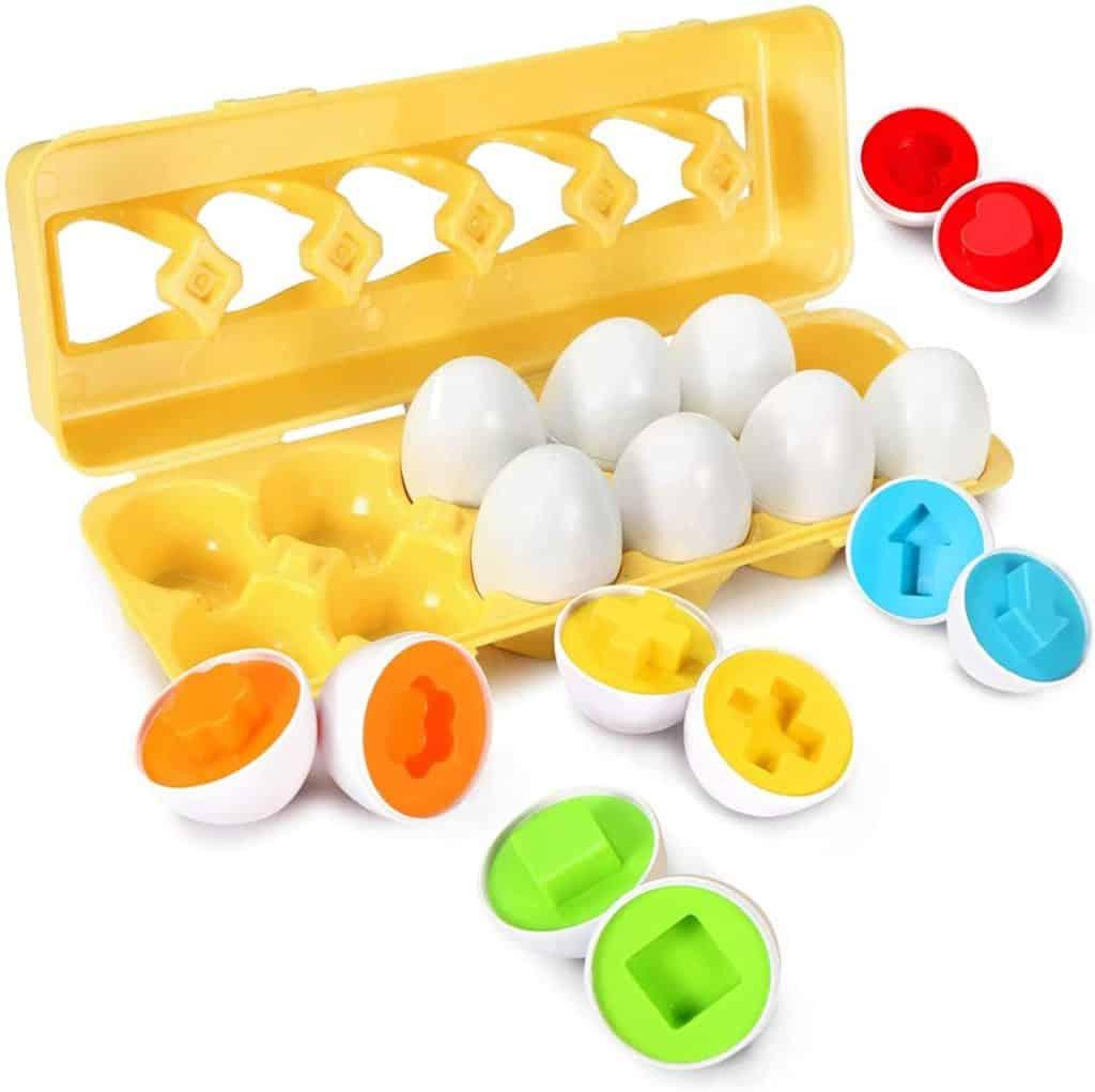 TomatoFish Matching Egg Set puzzle