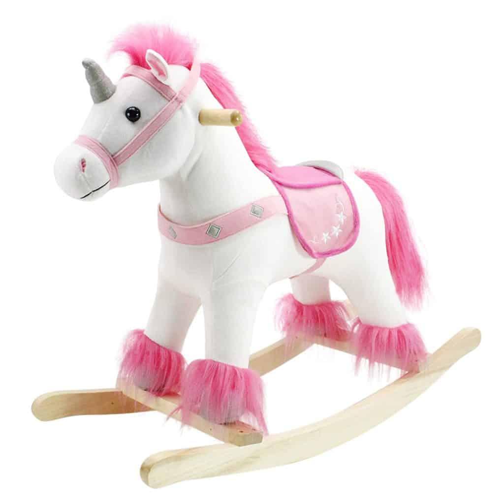 Animal Adventure Real Wood Ride On Unicorn