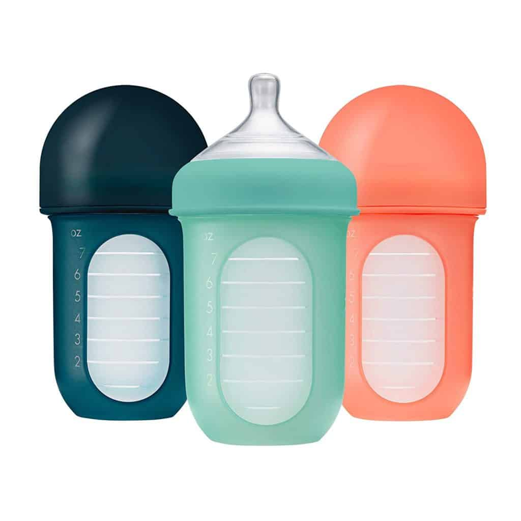 Boon Nursh Silicone Glass Baby Bottles (3-Pack)