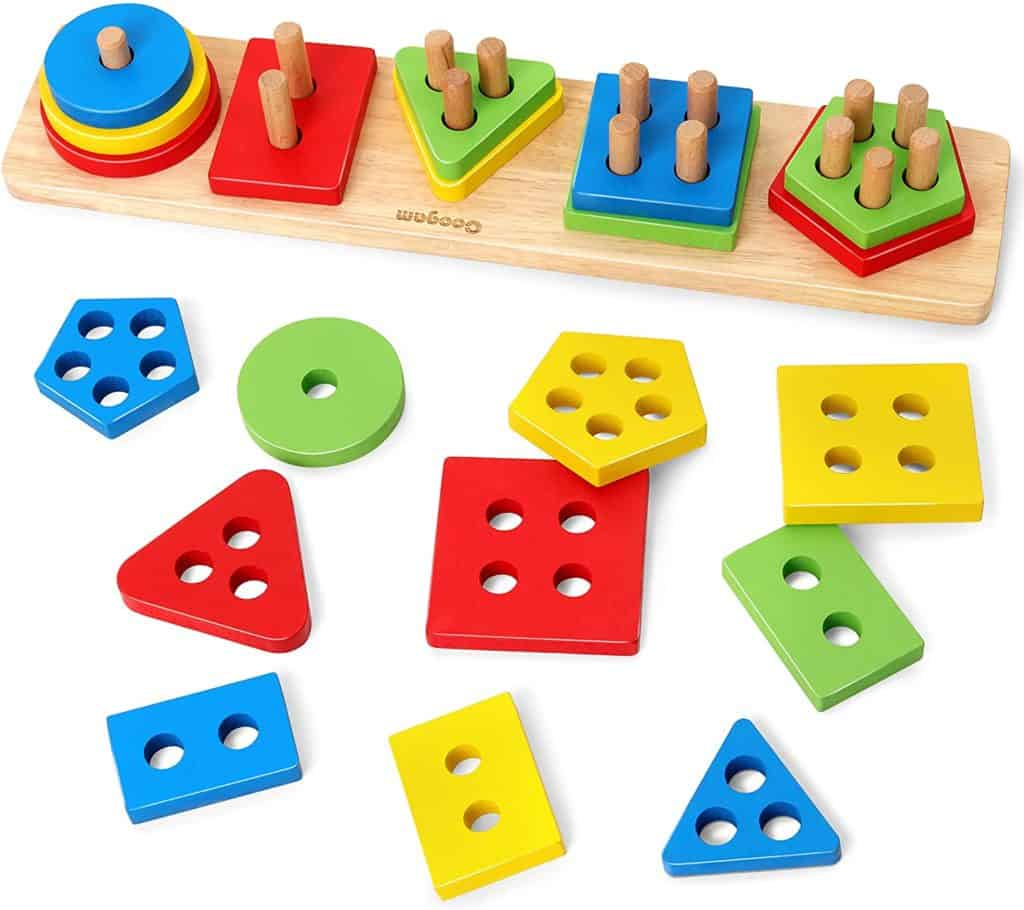 Coogam Wooden Sorting Stacking Toys