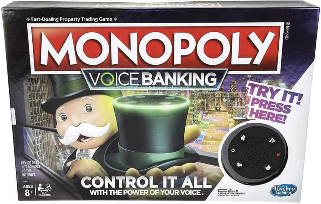 Monopoly Voice Banking Electronic Family Board Game; Best Gifts For 8-Year-old Boy