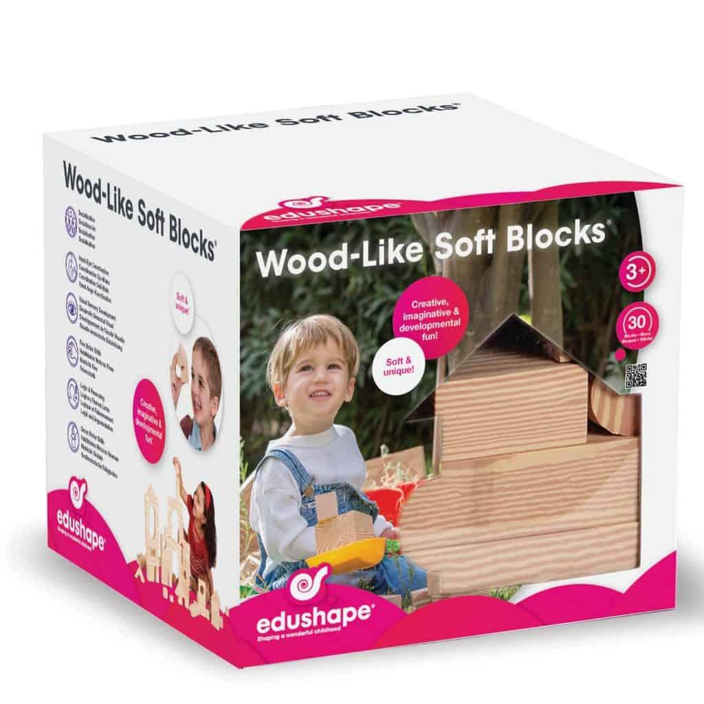Blocks - Edushape Wood-Like Soft Blocks, $17.72 - Best Montessori Toys