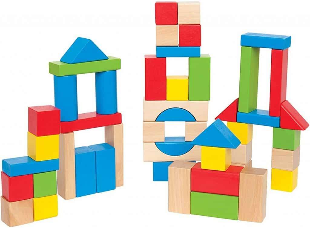 Blocks - Hape Build Up & Away Blocks, $23.95 - Best Montessori Toys