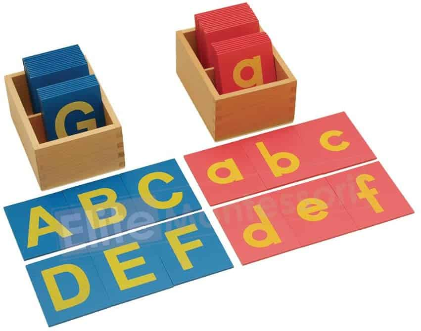 Montessori Alphabet Learning - Lower and Capital Case Sandpaper Letters, $26.52 - Best Montessori Toys