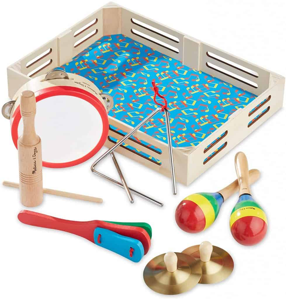 Musical Instruments - Melissa & Doug Band-in-a-Box Clap! Clang! Tap! Musical Instruments, $20.99 - Best Montessori Toys