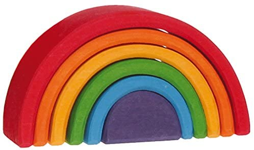 Open-Ended Play - Grimm's 6-Piece Rainbow Stacker, $36.47 - Best Montessori Toys