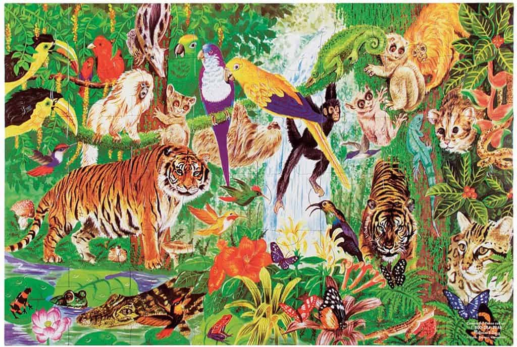 Puzzle - Melissa & Doug Rain Forest Floor Puzzle, $11.99 - Best Montessori Toys