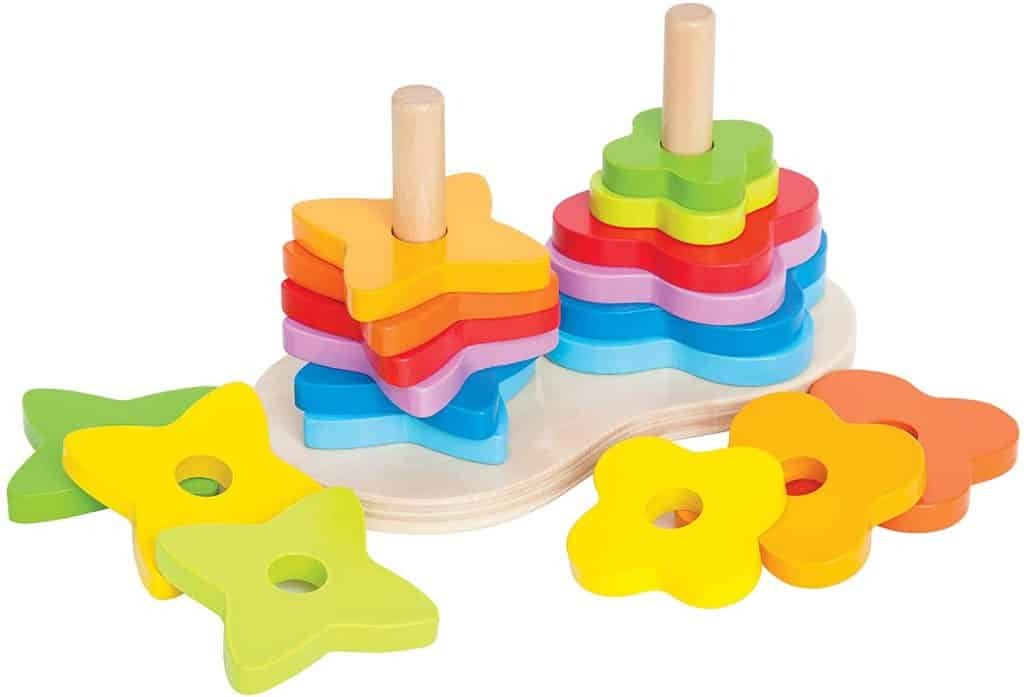 Stacking Toys - Hape Double Rainbow Stacker, $22.99 - Best Montessori Toys